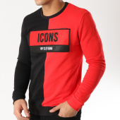 /achat-sweats-col-rond-crewneck/vip-clothing-sweat-crewneck-7013-noir-rouge-165066.html