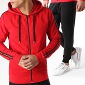 /achat-ensembles-survetement/lbo-ensemble-survetement-avec-bandes-576-noir-rouge-165317.html