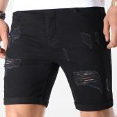 /achat-shorts-jean/lbo-short-jean-avec-dechirures-lb054-b7-noir-165415.html