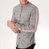 /achat-chemises-manches-longues/uniplay-chemise-manches-longues-avec-bandes-t355-noir-blanc-rouge-165347.html