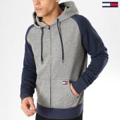 /achat-sweats-zippes-capuche/tommy-hilfiger-jeans-sweat-capuche-zippe-0991-gris-chine-bleu-marine-165538.html