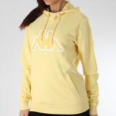 https://www.laboutiqueofficielle.com/achat-sweats-capuche/kappa-sweat-capuche-femme-authentic-logo-onno-304ppw0-jaune-165816.html