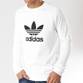 /achat-sweats-col-rond-crewneck/adidas-sweat-crewneck-trefoil-dv1544-blanc-165919.html