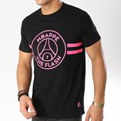 /achat-t-shirts/psg-tee-shirt-flash-mbappe-noir-rose-165829.html