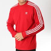 /achat-t-shirts-manches-longues/adidas-tee-shirt-manches-longues-3-stripes-dv1558-rouge-blanc-166029.html
