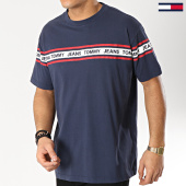/achat-t-shirts/tommy-hilfiger-jeans-tee-shirt-essential-tape-5559-bleu-marine-rouge-blanc-165941.html