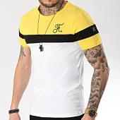 /achat-t-shirts/final-club-tee-shirt-tricolore-avec-broderie-166-blanc-noir-jaune-166242.html
