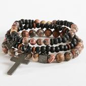/achat-bracelets/icon-brand-lot-de-3-bracelets-barrier-thief-marron-noir-marbre-166121.html