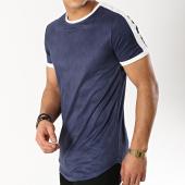 /achat-t-shirts-longs-oversize/terance-kole-tee-shirt-oversize-suedine-98210-bleu-marine--blanc-166181.html