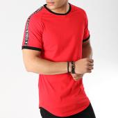 /achat-t-shirts-longs-oversize/terance-kole-tee-shirt-oversize-avec-bandes-98218-3-rouge-166357.html