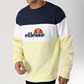 /achat-sweats-col-rond-crewneck/ellesse-sweat-crewneck-1032n-jaune-pastel-blanc-bleu-marine-166846.html