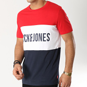 Jack And Jones - Tee Shirt Pierre Rouge Blanc Bleu Marine b68bc825e1c5
