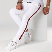 /achat-pantalons-joggings/lbo-pantalon-jogging-avec-bandes-noir-et-rouge-621-blanc-166772.html