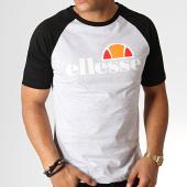 /achat-t-shirts/ellesse-tee-shirt-bicolore-1031n-gris-chine-noir-167152.html