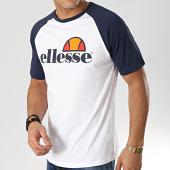 /achat-t-shirts/ellesse-tee-shirt-bicolore-1031n-blanc-bleu-marine-167160.html