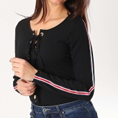 /achat-t-shirts-manches-longues/girls-only-tee-shirt-manches-longues-avec-bandes-femme-s106-noir-167091.html
