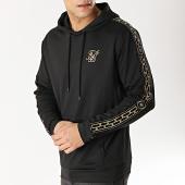/achat-sweats-capuche/siksilk-sweat-capuche-avec-bandes-13672-noir-dore-167003.html
