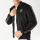 /achat-vestes/siksilk-veste-zippee-avec-bandes-13678-noir-dore-167017.html