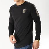 /achat-t-shirts-manches-longues/siksilk-tee-shirt-oversize-manches-longues-avec-bandes-14329-noir-dore-167031.html