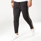 /achat-pantalons-joggings/siksilk-pantalon-jogging-avec-bandes-13557-noir-dore-167040.html