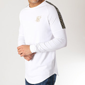 /achat-t-shirts-manches-longues/siksilk-tee-shirt-oversize-manches-longues-14328-blanc-dore-167051.html