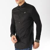 /achat-chemises-manches-longues/siksilk-chemise-manches-longues-cartel-14055-noir-dore-167065.html