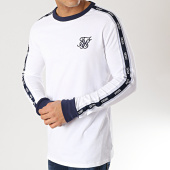 /achat-t-shirts-manches-longues/siksilk-tee-shirt-manches-longues-avec-bandes-14314-blanc-bleu-marine-167081.html