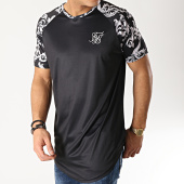 /achat-t-shirts-longs-oversize/siksilk-tee-shirt-oversize-renaissance-14322-noir-argente-167087.html