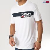 31732f3d2790f Tommy Hilfiger Jeans - Tee Shirt Box Logo 6089 Blanc