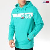 /achat-sweats-capuche/tommy-hilfiger-jeans-sweat-capuche-essential-graphic-6047-vert-167156.html