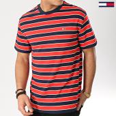 /achat-t-shirts/tommy-hilfiger-jeans-tee-shirt-bold-stripe-6066-rouge-bleu-marine-167173.html