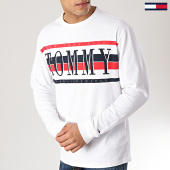 /achat-t-shirts-manches-longues/tommy-hilfiger-jeans-tee-shirt-manches-longues-retro-6088-blanc-167180.html