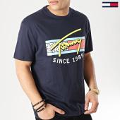 /achat-t-shirts/tommy-hilfiger-jeans-tee-shirt-neon-script-6098-bleu-marine-167189.html