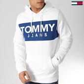 /achat-sweats-capuche/tommy-hilfiger-jeans-sweat-capuche-bold-logo-6106-blanc-167196.html
