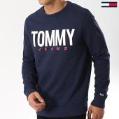 /achat-sweats-col-rond-crewneck/tommy-hilfiger-jeans-sweat-crewneck-essential-logo-6291-bleu-marine-167229.html