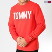 /achat-sweats-col-rond-crewneck/tommy-hilfiger-jeans-sweat-crewneck-essential-logo-6291-rouge-167232.html