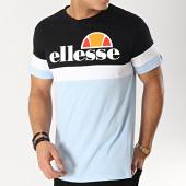 /achat-t-shirts/ellesse-tee-shirt-tricolore-1031n-bleu-clair-noir-blanc-167303.html