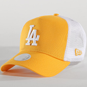 /achat-trucker/new-era-casquette-trucker-femme-league-essential-los-angeles-dodgers-11871470-jaune-blanc-167477.html