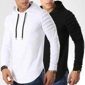 /achat-sweats-capuche/lbo-lot-de-2-sweats-capuche-oversize-616-noir-et-blanc-168168.html