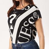 /achat-t-shirts/guess-tee-shirt-femme-w92i87-k68d0-noir-ecru-168467.html