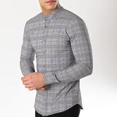 /achat-chemises-manches-longues/uniplay-chemise-manches-longues-a-carreaux-c003-noir-blanc-168876.html