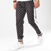 /achat-pantalons-joggings/terance-kole-pantalon-jogging-a-bandes-88025-noir-blanc-169766.html