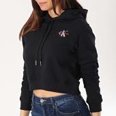 /achat-sweats-capuche/calvin-klein-sweat-capuche-crop-femme-monogram-embroidery-10601-noir-170061.html
