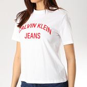 /achat-t-shirts/calvin-klein-tee-shirt-femme-institutional-logo-0743-blanc-rouge-170067.html