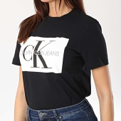 /achat-t-shirts/calvin-klein-tee-shirt-femme-iconic-monogram-box-1216-noir-170069.html