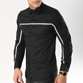 /achat-chemises-manches-longues/frilivin-chemise-manches-longues-avec-bandes-bm1072-noir-170251.html