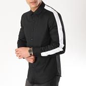 /achat-chemises-manches-longues/frilivin-chemise-manches-longues-avec-bandes-bm1069-noir-blanc-170260.html