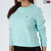 /achat-sweats-col-rond-crewneck/tommy-hilfiger-jeans-sweat-crewneck-crop-femme-side-seam-6123-bleu-clair-170070.html