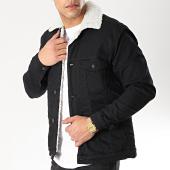 /achat-vestes-jean/classic-series-veste-jean-col-mouton-6472-noir-blanc-170365.html