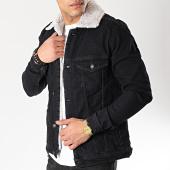 /achat-vestes-jean/classic-series-veste-jean-col-mouton-6456-noir-gris-170375.html